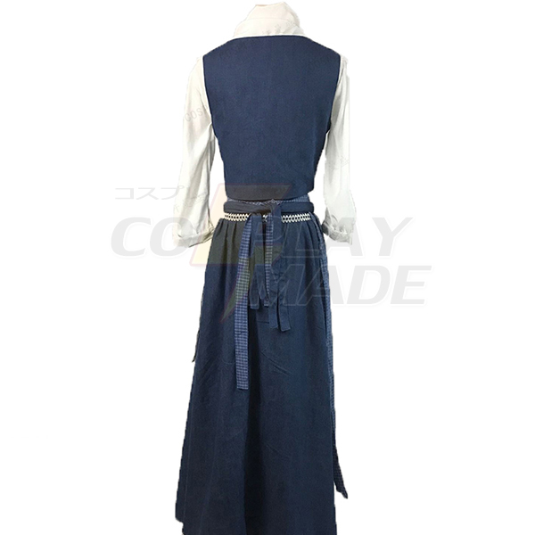 Disfraces Beauty and the Beast Vestido Belle Cosplay Azul Vestido Daily