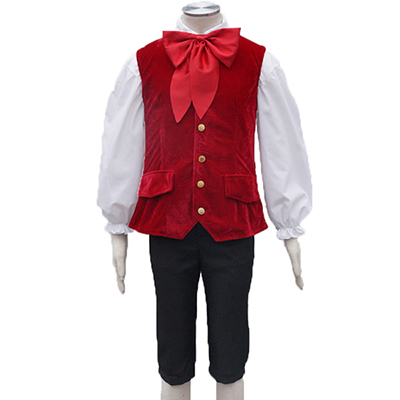 Costumi Beauty and the Beast LeFou Cosplay Rosso