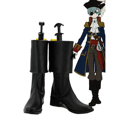 Black Butler 2 Kuroshitsuji Pirate Ciel Cosplay Støvler