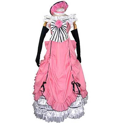 Black Butler Ciel Phantomhive Pink Cosplay Jelmez Karnevál Ruhák