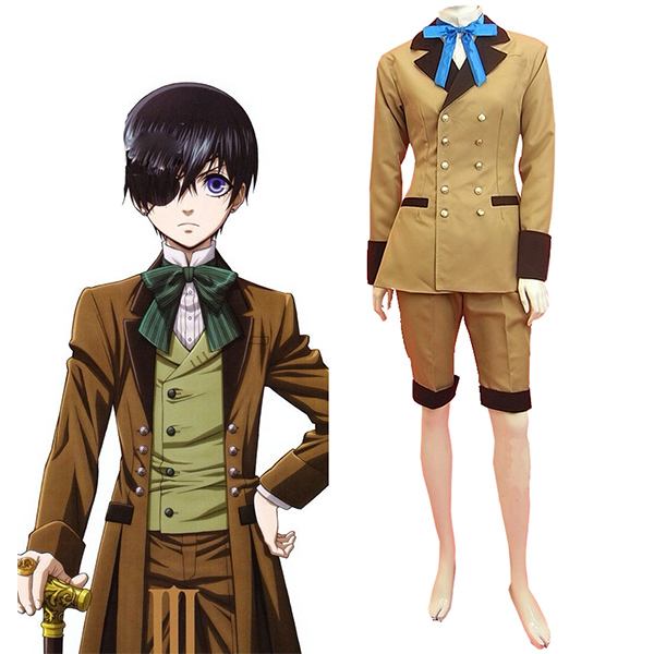 Costumi Black Butler Kuroshitsuji Ciel Phantomhive Gray Suit Cosplay