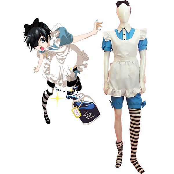 Costumi Black Butler Kuroshitsuji Ciel Phantomhive Maid Vestito Cosplay