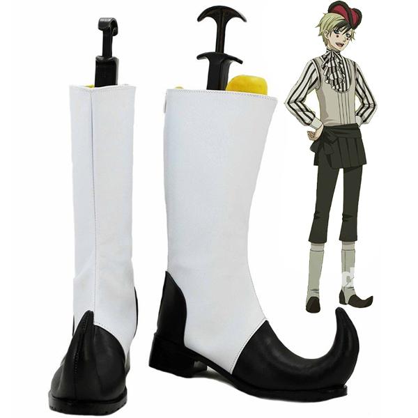 Zapatos Negro Butler Kuroshitsuji Circus Dagger Cosplay Botas