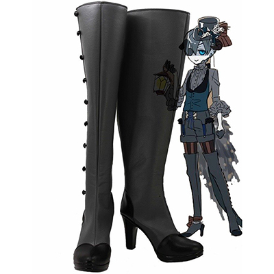 Black Butler Kuroshitsuji Demon Ciel Cosplay Støvler