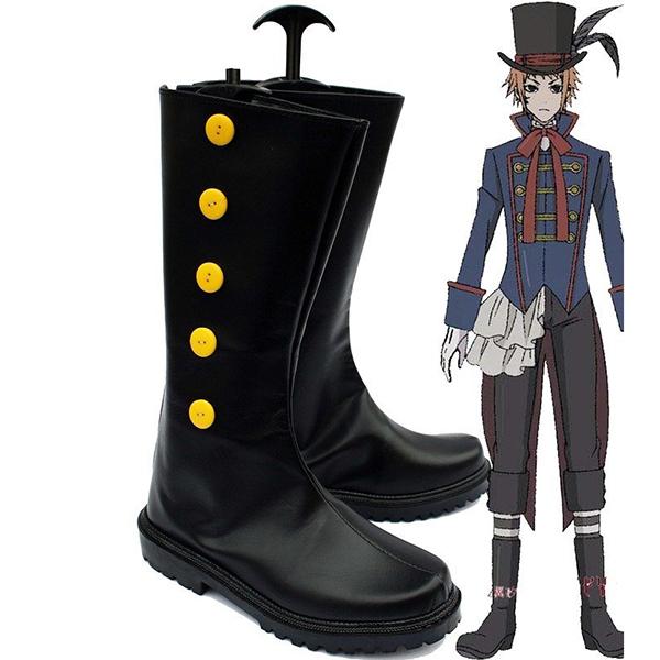 Black Butler Kuroshitsuji Doll Maker Drocell Caines Cosplay Stivali