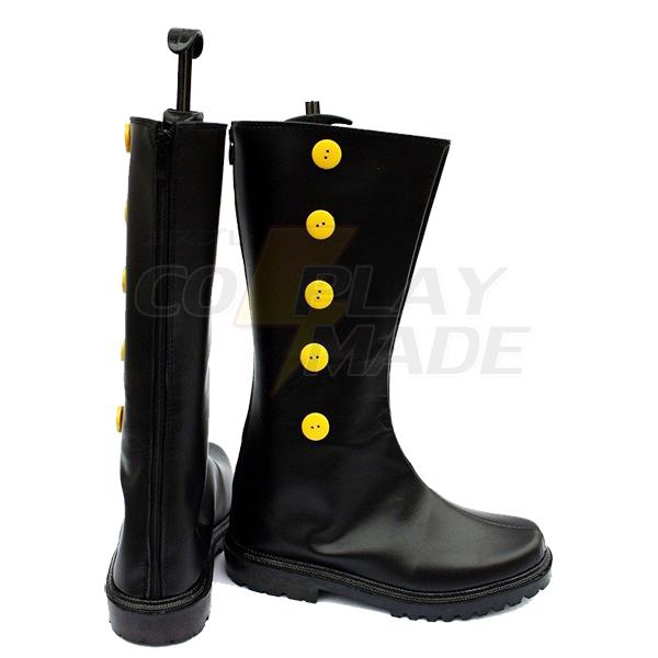 Zapatos Negro Butler Kuroshitsuji Doll Maker Drocell Caines Cosplay Botas
