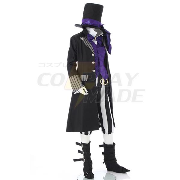 Costumi Black Butler Kuroshitsuji Grim Reapers Undertaker Cosplay
