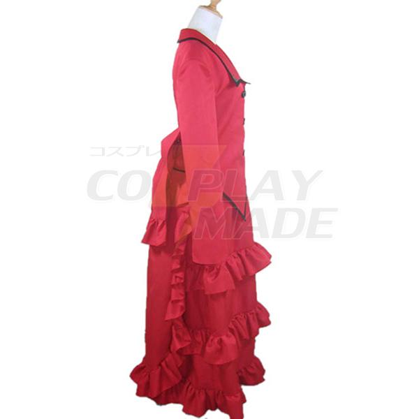 Costumi Black Butler Kuroshitsuji Madam Rosso Cosplay