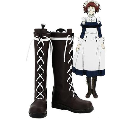 Black Butler Kuroshitsuji Mey Rin Cosplay Støvler