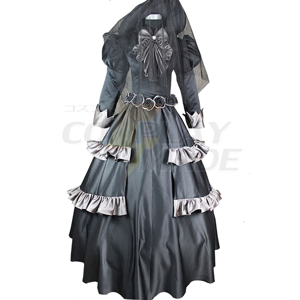 Black Butler Queen Victoria Black Lolita Dress Cosplay Costume
