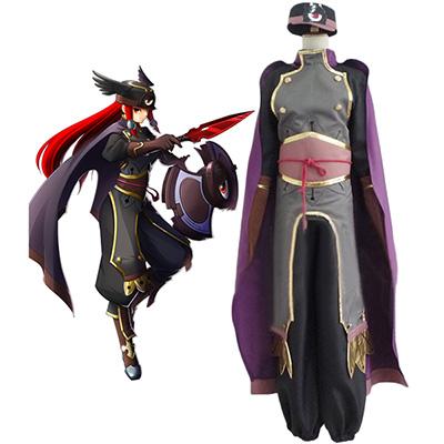 Blazblue Tsubaki Yayoi Cosplay Kostuum Speciaal Gemaakt