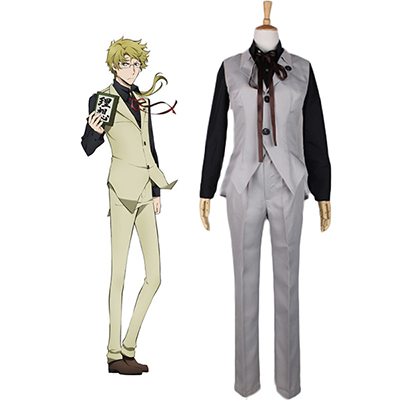 Costume Bungou Stray Dogs Doppo Kunikida Cosplay Déguisement