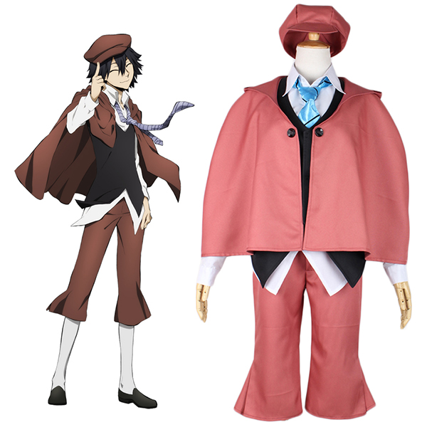 Bungou Stray Dogs Ranpo Edogawa Cosplay Costume Red