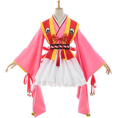 Cardcaptor Sakura Kinomoto Sakura Kimono Cosplay Kostym Karneval Kläder