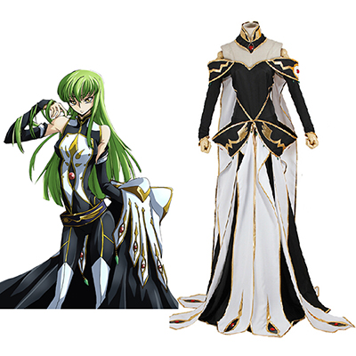 Code Geass C.C. Queen Dress Cosplay Costume