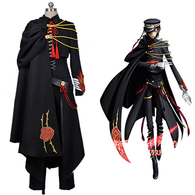 Code Geass Lelouch of the Rebellion Svart Uniform Cosplay Kostyme
