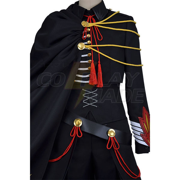 Disfraces Code Geass Lelouch of the Rebellion Negro Uniforme Cosplay