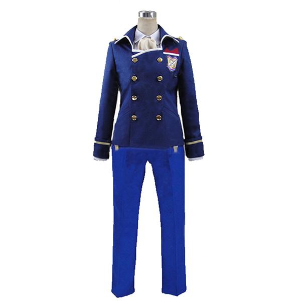 Dance with Devils Rem Kaginuki Blue Halloween Suit Cosplay Costume