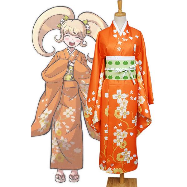 Super Danganronpa 2 Hiyoko Saionji Kimono Costume For Women Girls