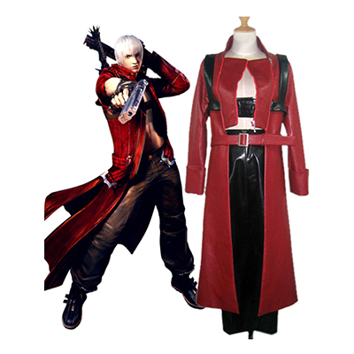 Devil May Cry 3 Dante Cosplay Kostyme Karneval Norge