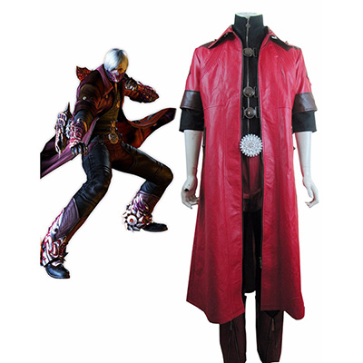 Devil May Cry 4 Dante Cosplay Kostyme Karneval Norge