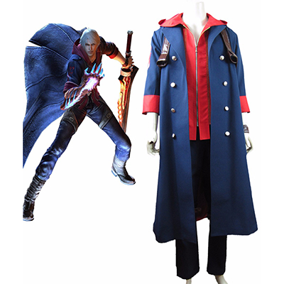 Devil May Cry 4 Nero Cosplay Kostyme Karneval Norge