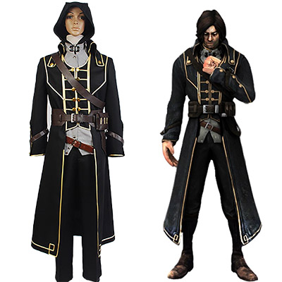 Fantasias de Dishonored Corvo Attano Cosplay Para Homens