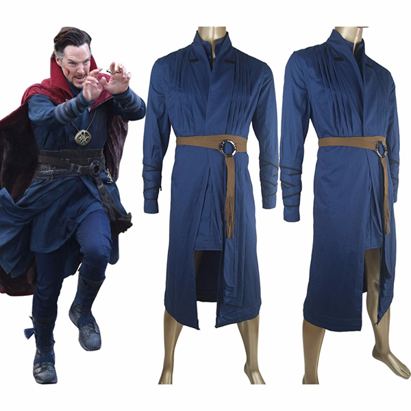 Costumi Doctor Strange Abito Uniforme Robe Halloween Cosplay Comic-con