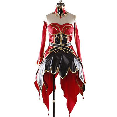 Costumi Dota 2 Lina Inverse the Slayer Vestito Cosplay Carnevale