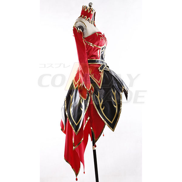 dota 2 lina inverse the slayer dress cosplay costume