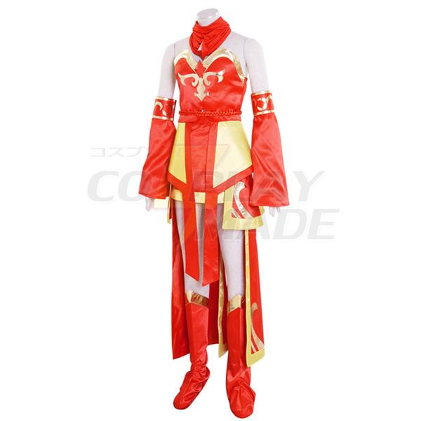 Costumi Dota 2 Lina Inverse Lina witch Cosplay Vestito Carnevale