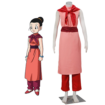 Dragon Ball Chichi Vuxna Cheongsam Cosplay Kostym