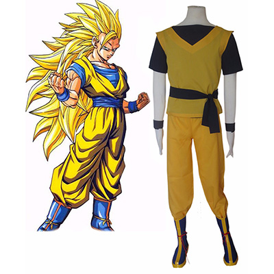 Costume Dragon Ball Z Super Saiyan Son Goku KongFu Uniform Cosplay Déguisement