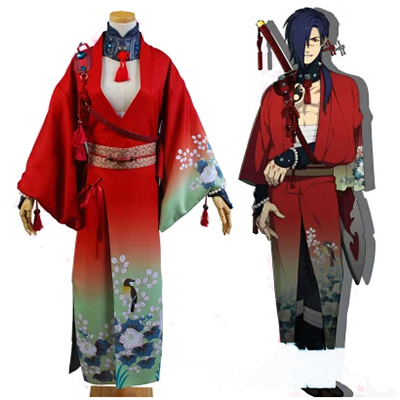 Costume DMMD Dramatical Murder Koujaku Cosplay Déguisement Rouge Kimono Anime Vêtements