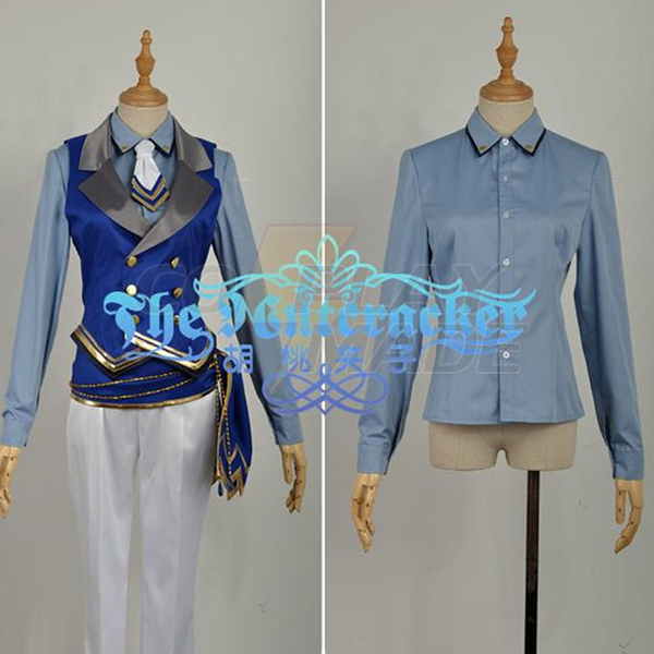 Disfraces Ensemble Stars Suou Tsukasa Cosplay Azul Escenario Vestido
