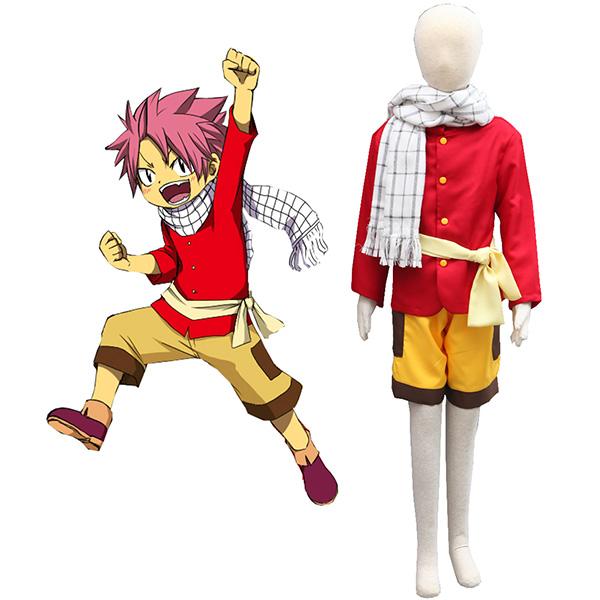 Fairy Tail Dragon Slayers Natsu Dragneel Kid Cosplay Costume