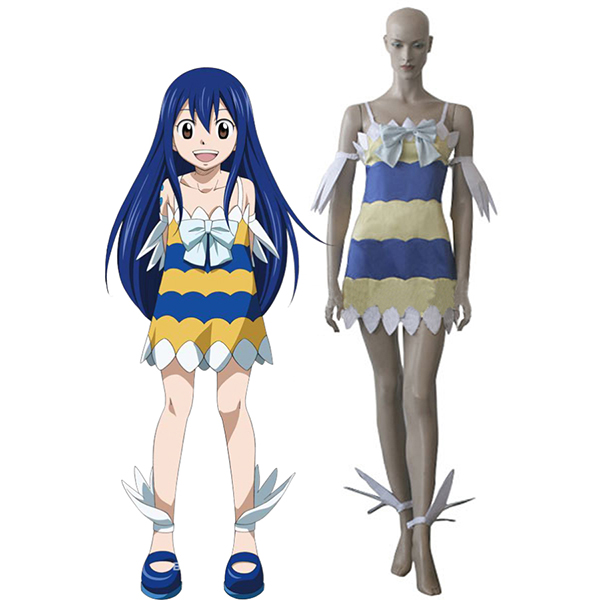 Fairy Tail Dragon Slayers Wendy Marvell Girl Dress Cosplay Costume