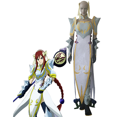 Fantasias de Fairy Tail Erza Scarlet Lightning Empress Armor Cosplay