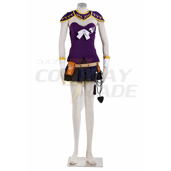 Fairy Tail Lucy Cosplay Costume Purple Tailor Made Any Size