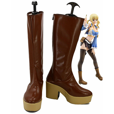 Zapatos Fairy Tail Lucy Cosplay Botas Carnaval Marrón