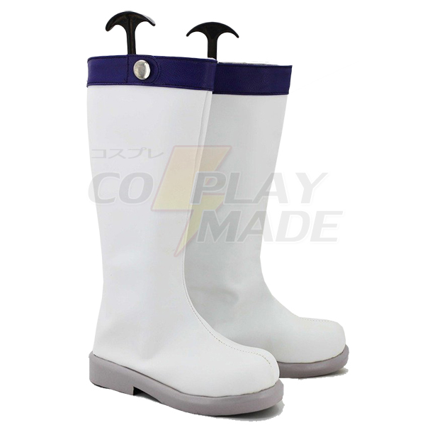 Fairy Tail Lucy Cosplay Boots Custom Made White Shoes
