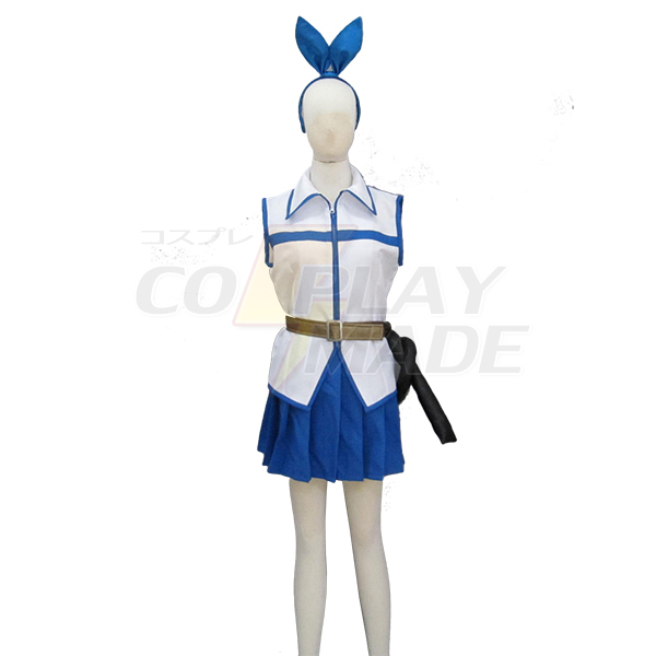Fairy Tail Lucy Heartfilia White Dress Cosplay Costume