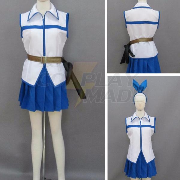 Costumi Fairy Tail Lucy Heartfilia White Vestito Cosplay