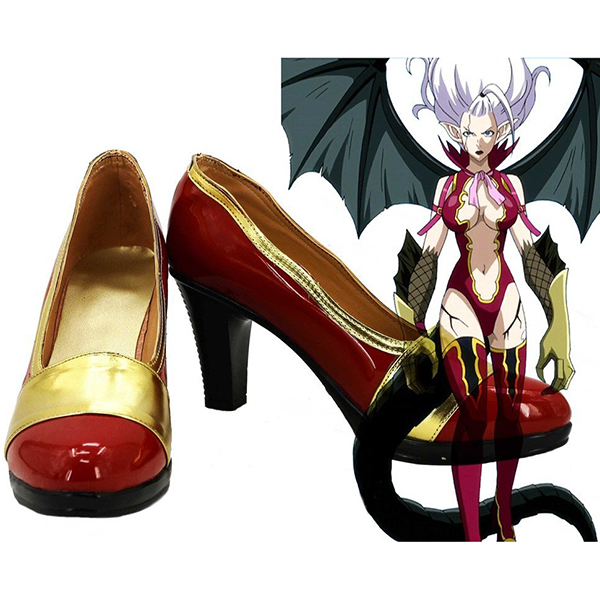Fairy Tail Mirajane Strauss Cosplay Boots Custom Made Shoes