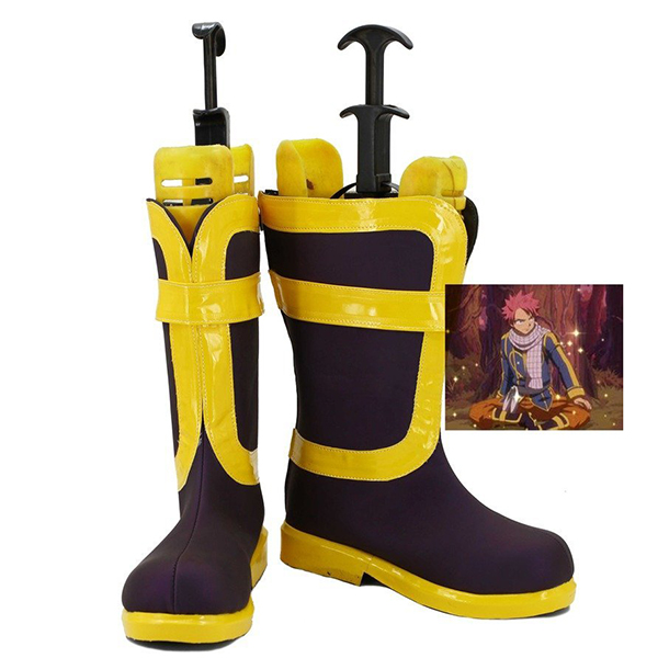 Fairy Tail Natsu Cosplay Oracion Seis Boots Custom Made Shoes