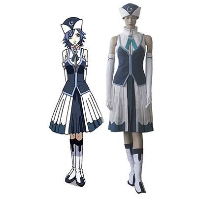 Costume Fairy Tail Rain Woman Juvia Lockser Bleu Evening Robes Cosplay Déguisement
