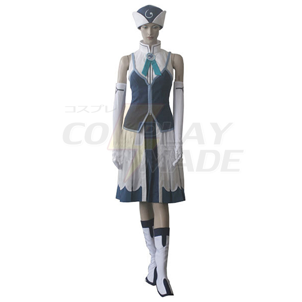 Costumi Fairy Tail Rain Woman Juvia Lockser Blu Evening Vestito Cosplay