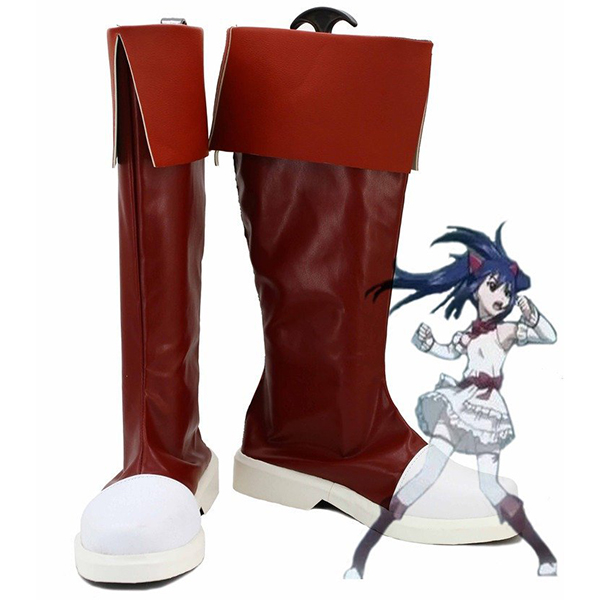 Fairy Tail Wendy Marvell Cosplay Stivali Carnevale Rosso Scarpe