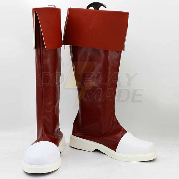 Fairy Tail Wendy Marvell Cosplay Boots Custom Made Red Shoes