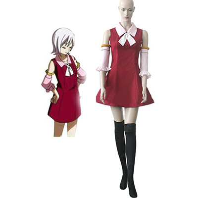 Fairy Tail Youth Lisanna Strauss Red Dress Cosplay Costume